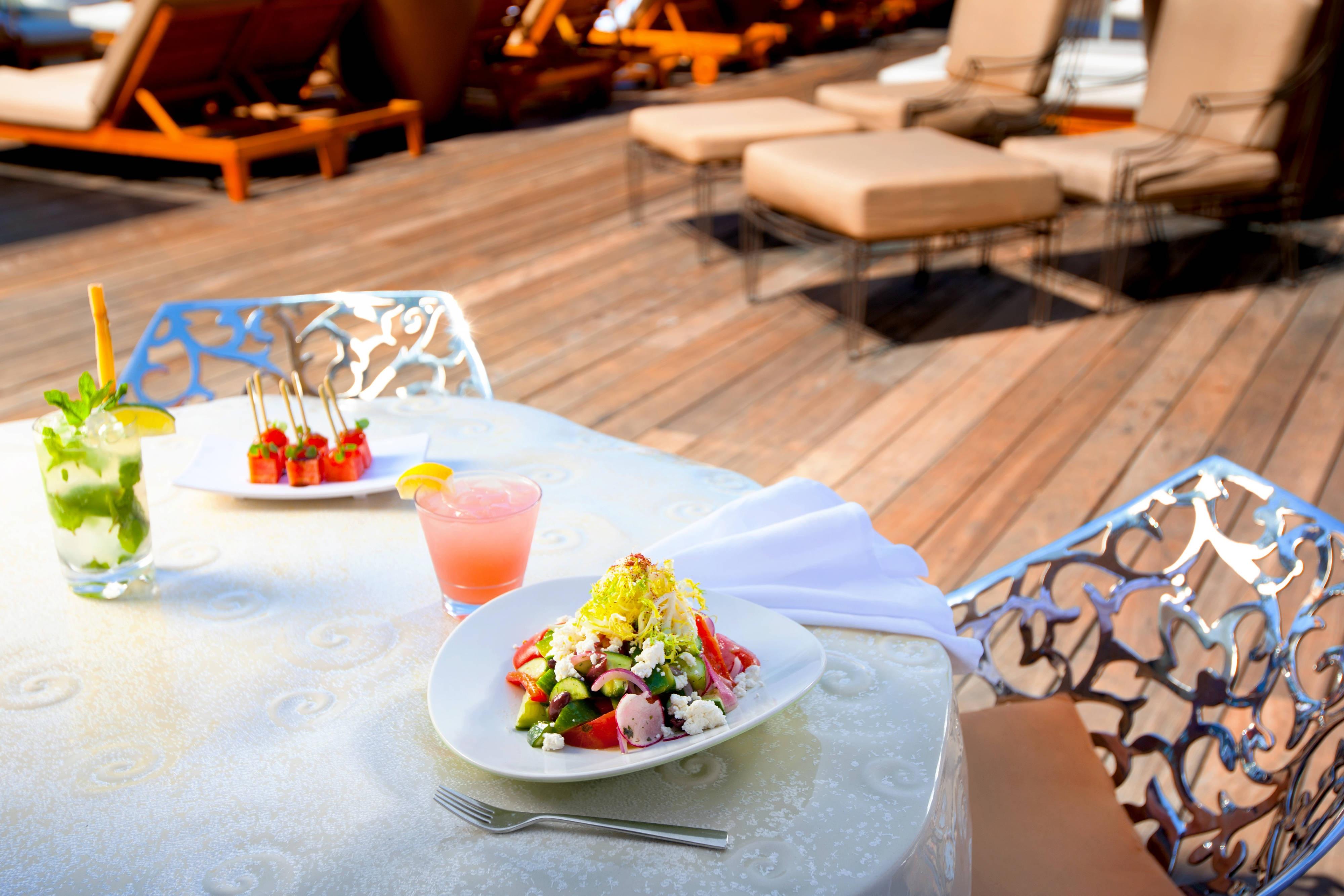 Poolside salad