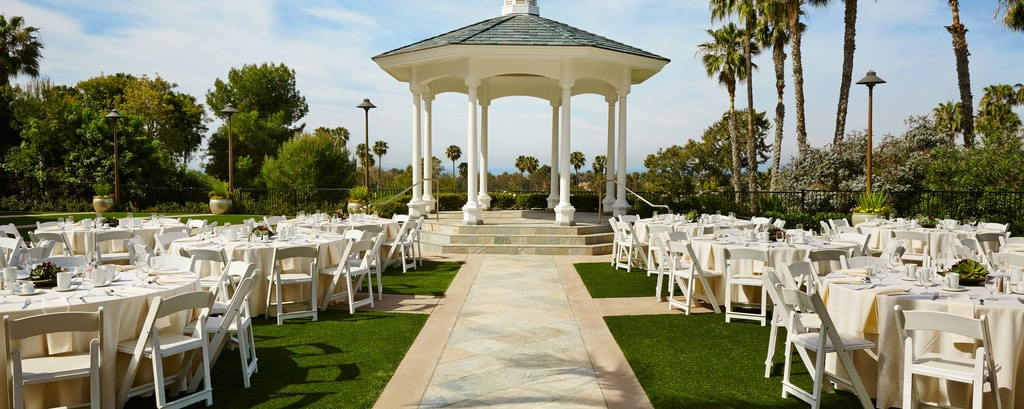 Rose Garden Terrace – Wedding Reception Setup