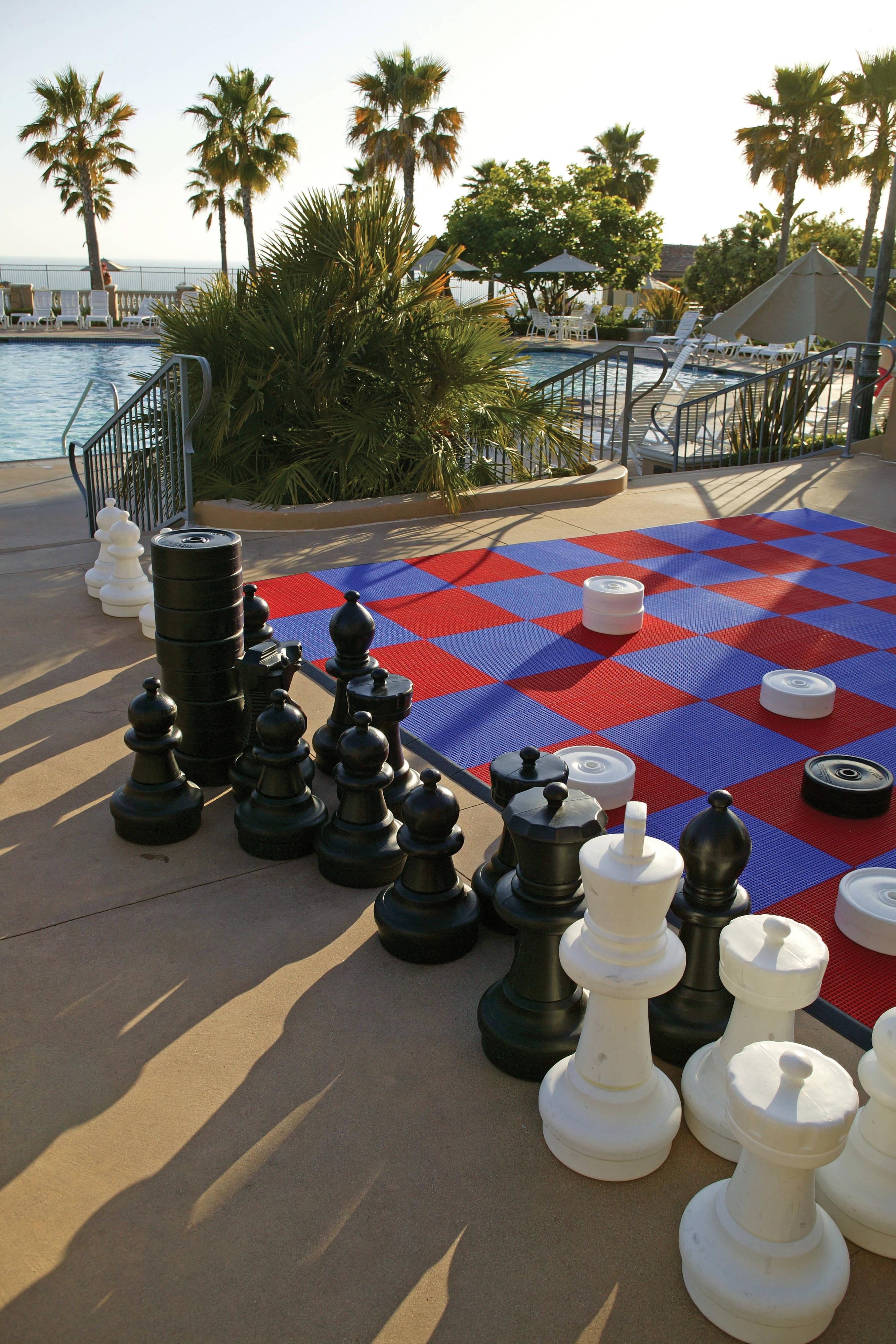 巨大なチェス・チェッカーボード