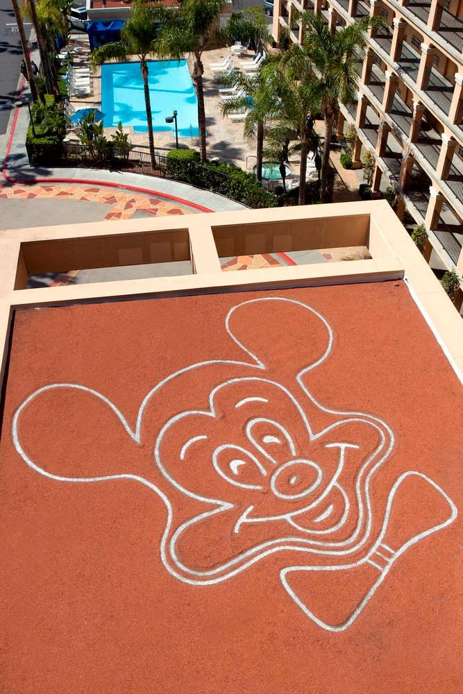 Rooftop Mickey Mouse