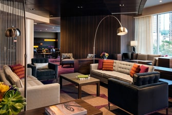 The Residence Inn Los Angeles L.A. LIVE by Marriott Club Lounge