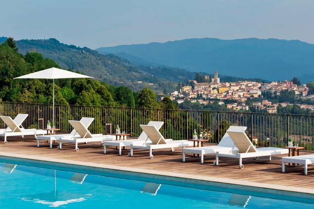 Tuscany resort with outdoor pool