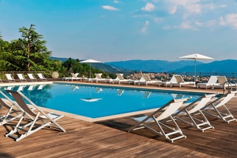 Outdoor pool in Tuscany