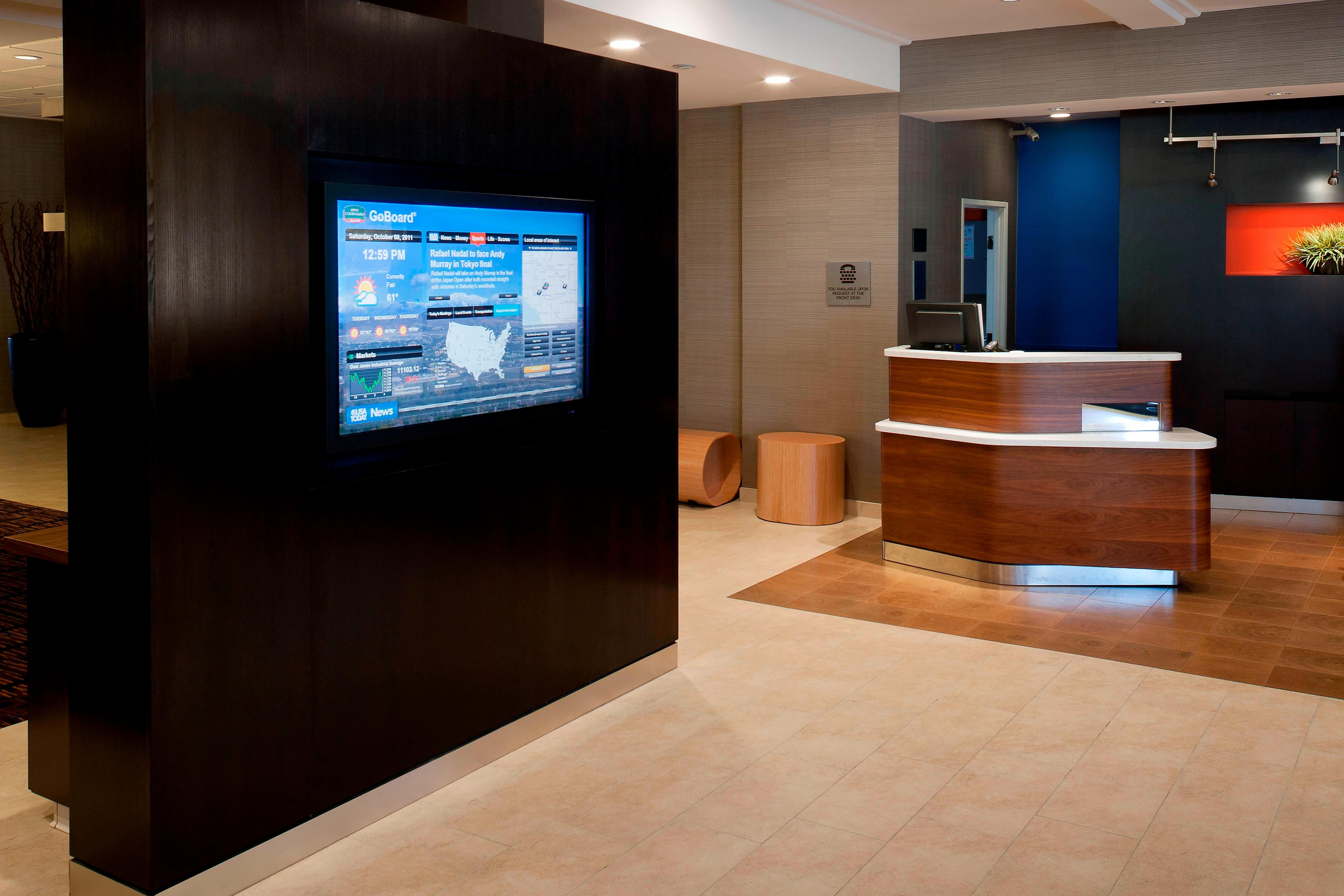 Lobby Touchscreen - Cypress CA hotels
