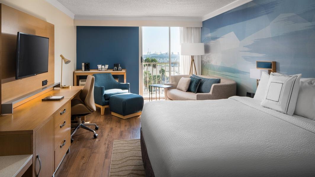 Ausblicke auf den Hafen von Hotel in Long Beach