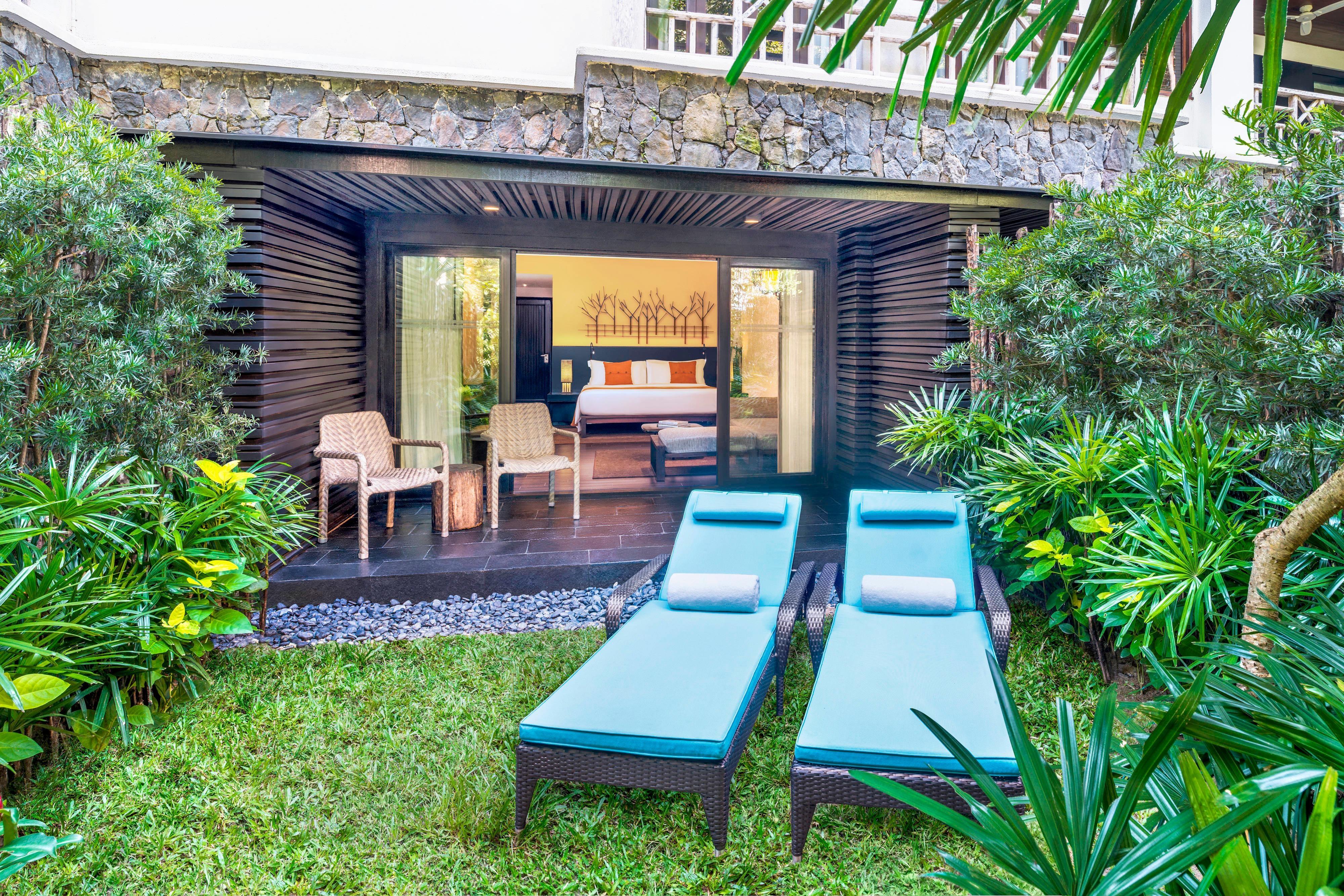 Luxus Terrassenzimmer zum Garten