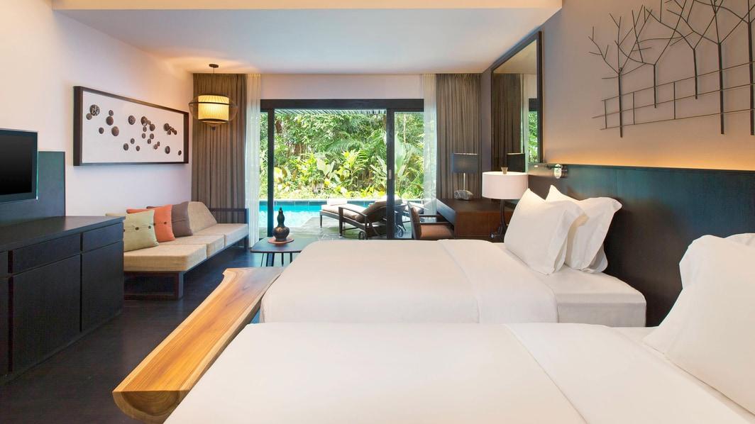 Luxuszimmer mit Zugang zum Pool