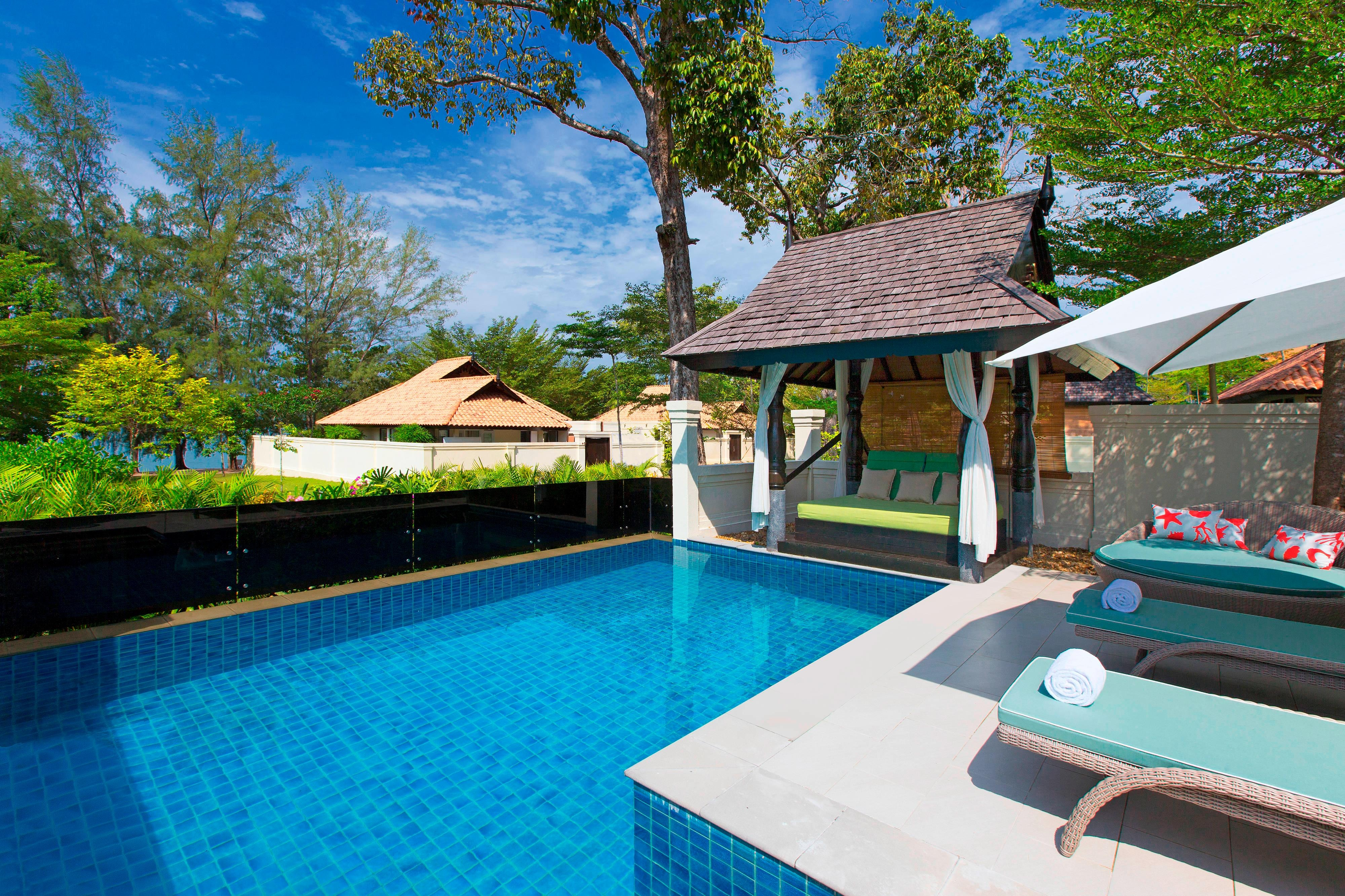 Villa avec vue partielle sur l'océan une chambre