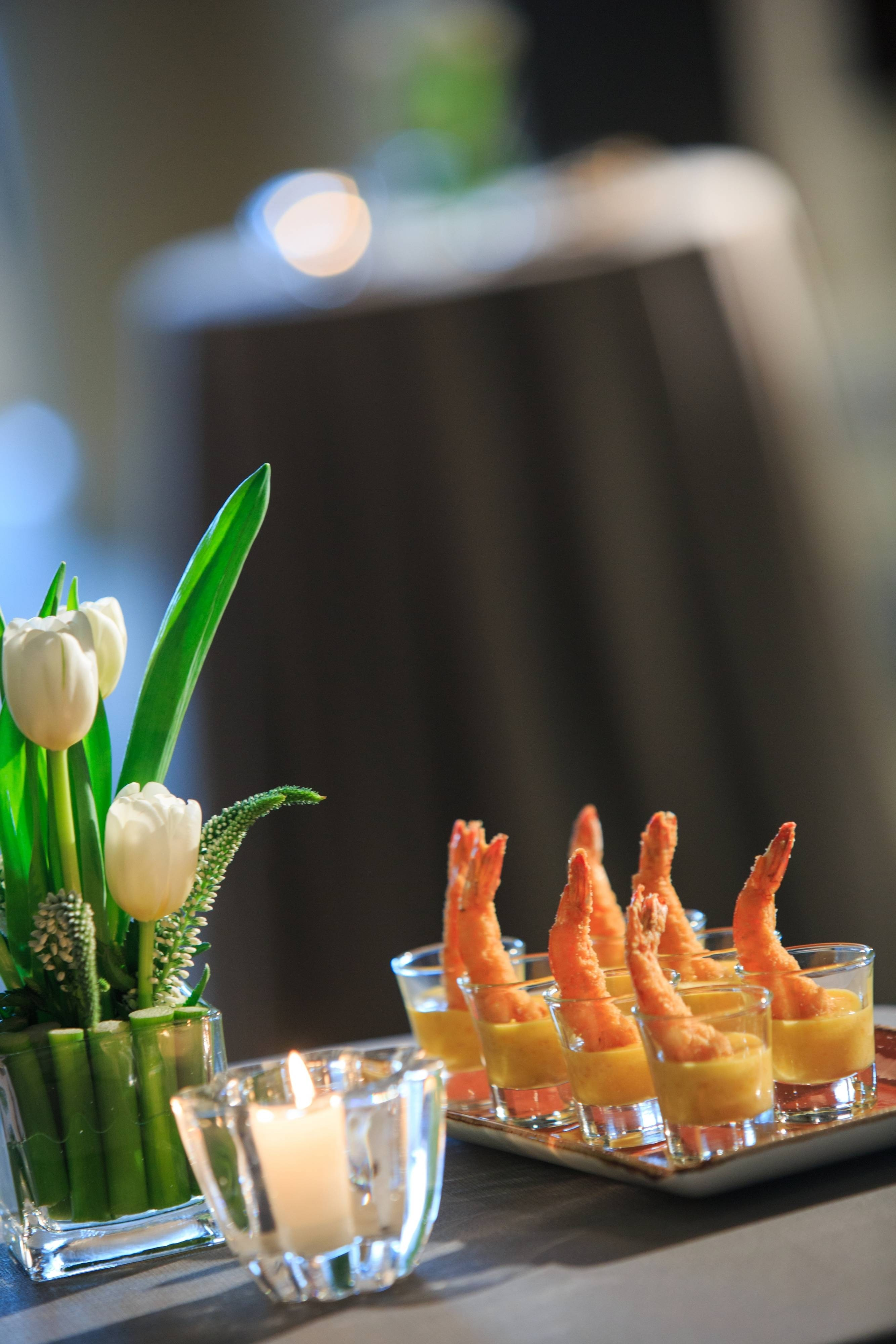 Catering Peruvian Prawns in Lima
