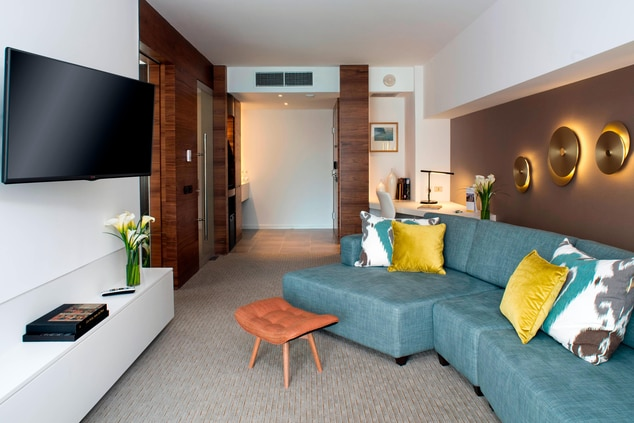Living Room Spaces in our Panoramic Suites
