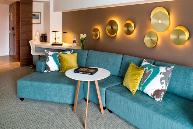 Living Room Spaces in the Panoramic Suites