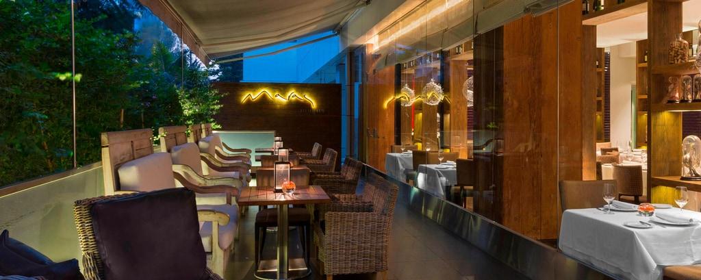 Terraza del restaurante Maras