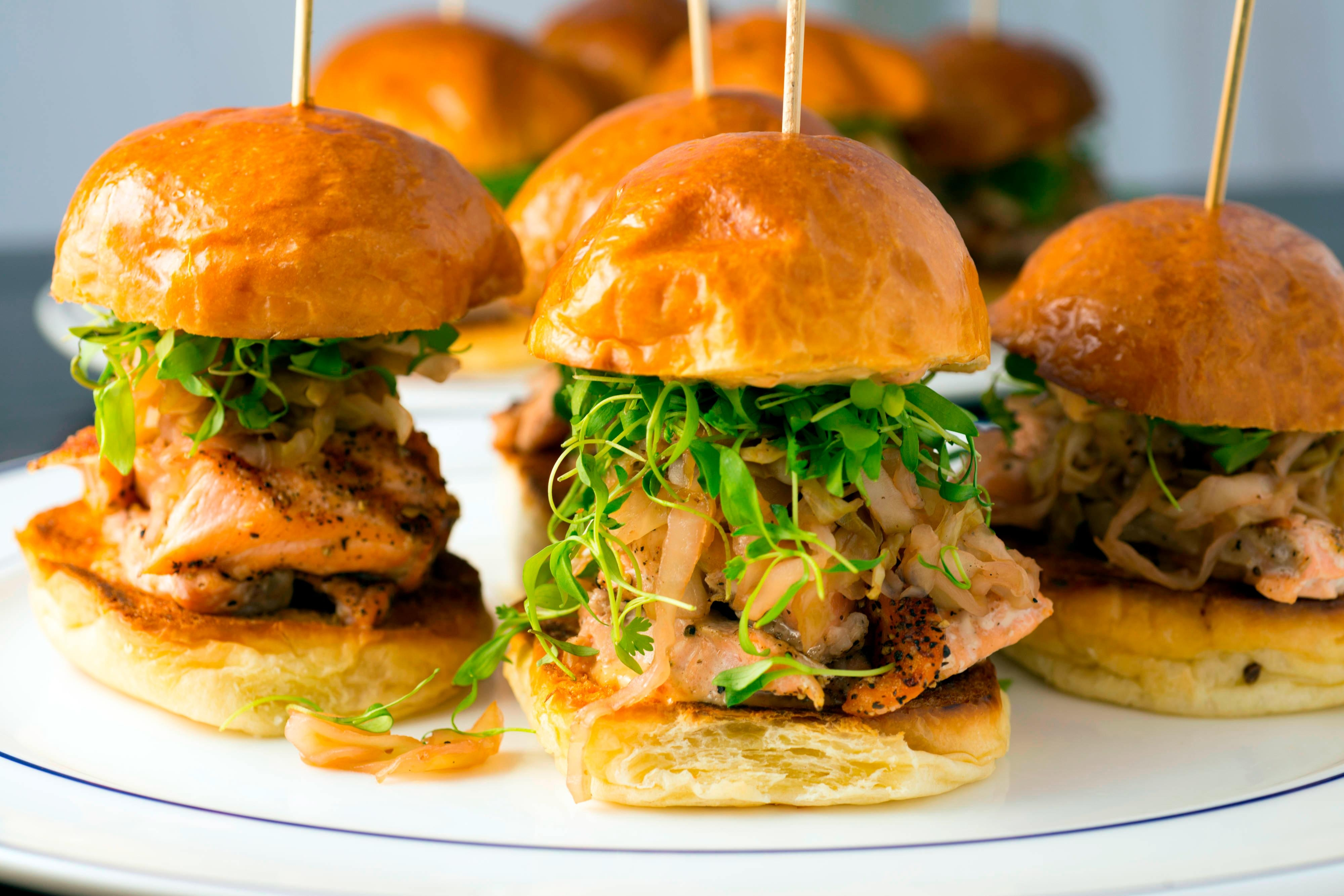 Heritage Grille Steak & Fin – Salmon Sliders