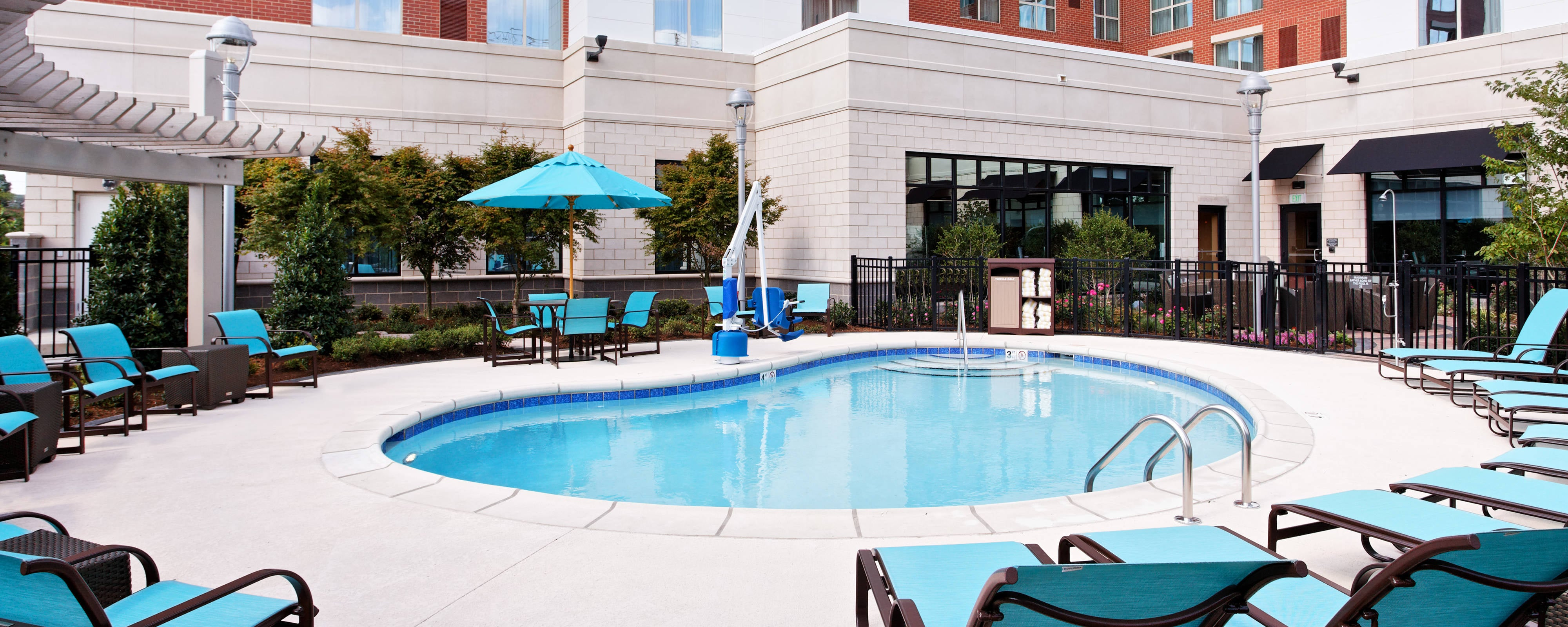piscina del hotel en little rock