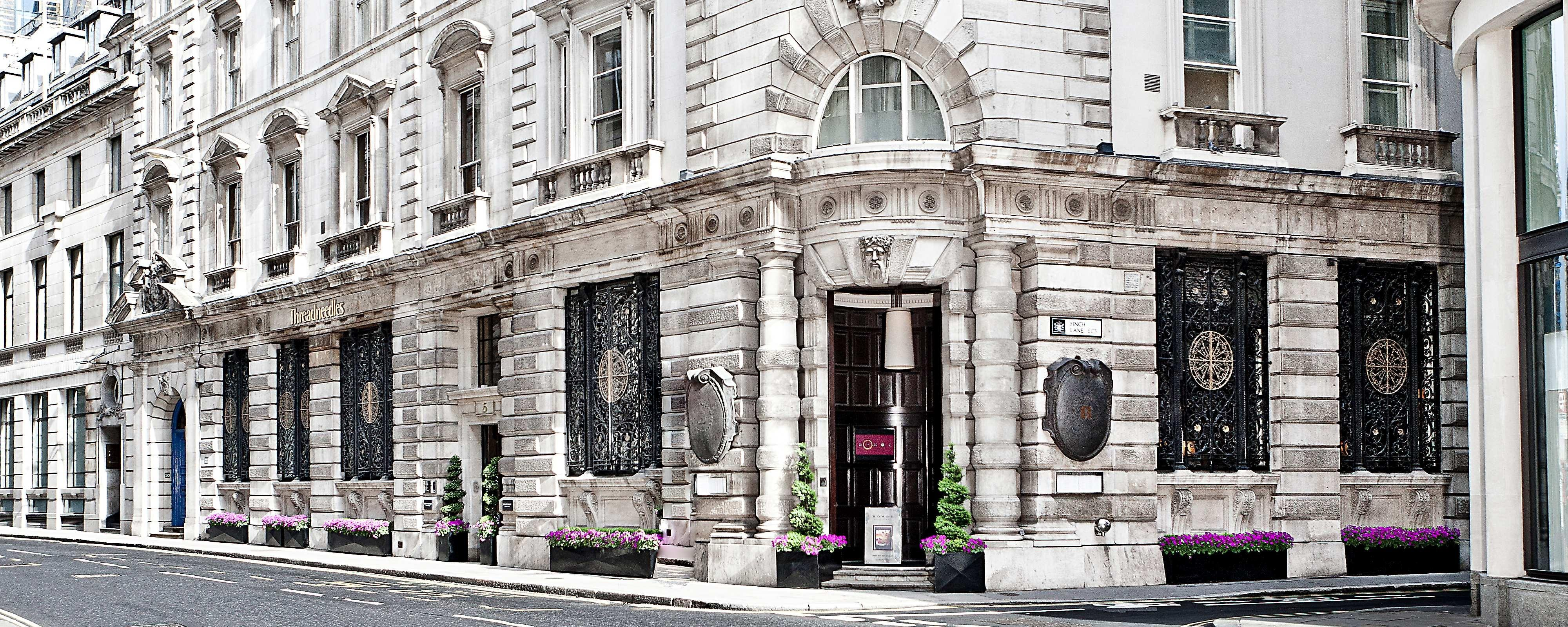 London boutique hotel exterior