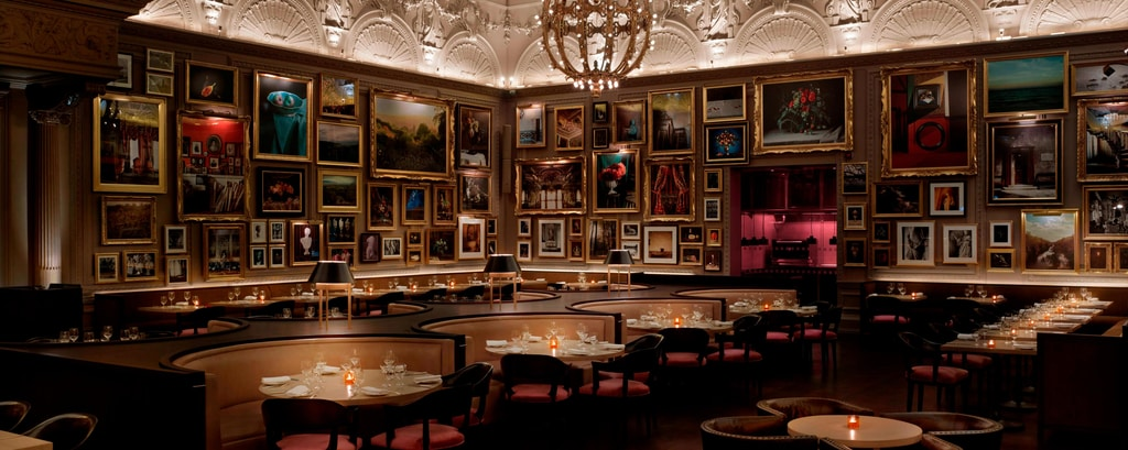 Зона отдыха ресторана Berners Tavern
