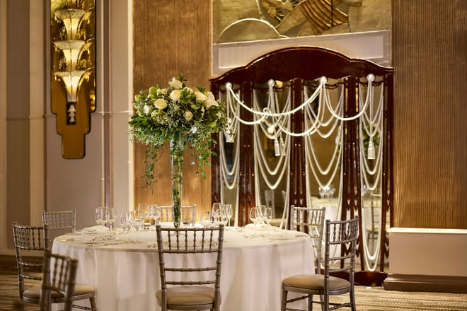 Wedding Dinner Set-up Detail