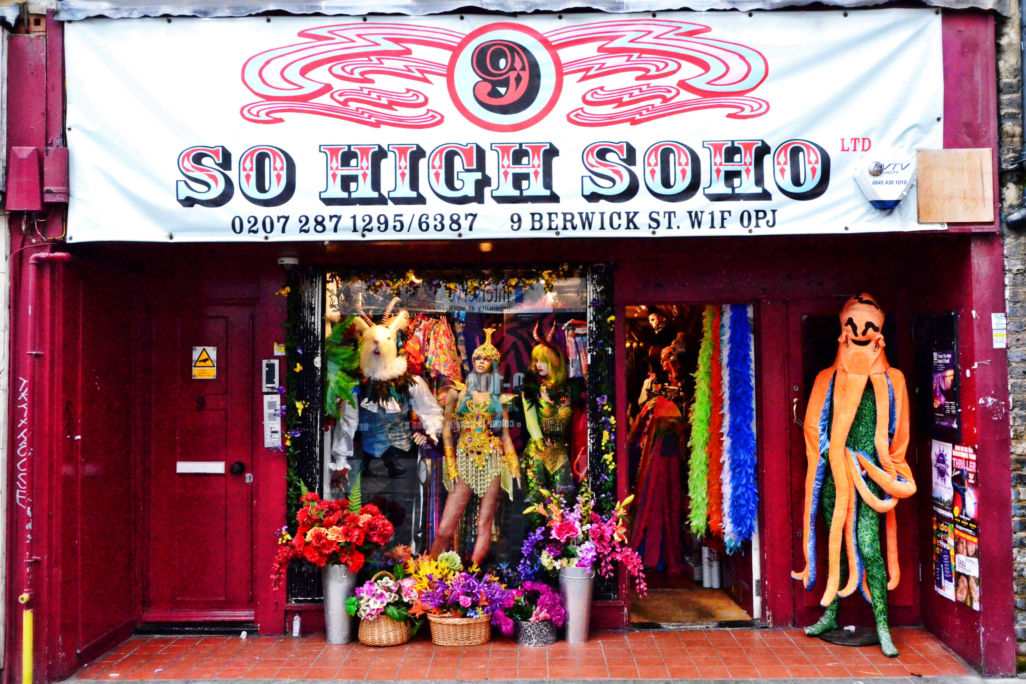 Fancy dress shop in Soho