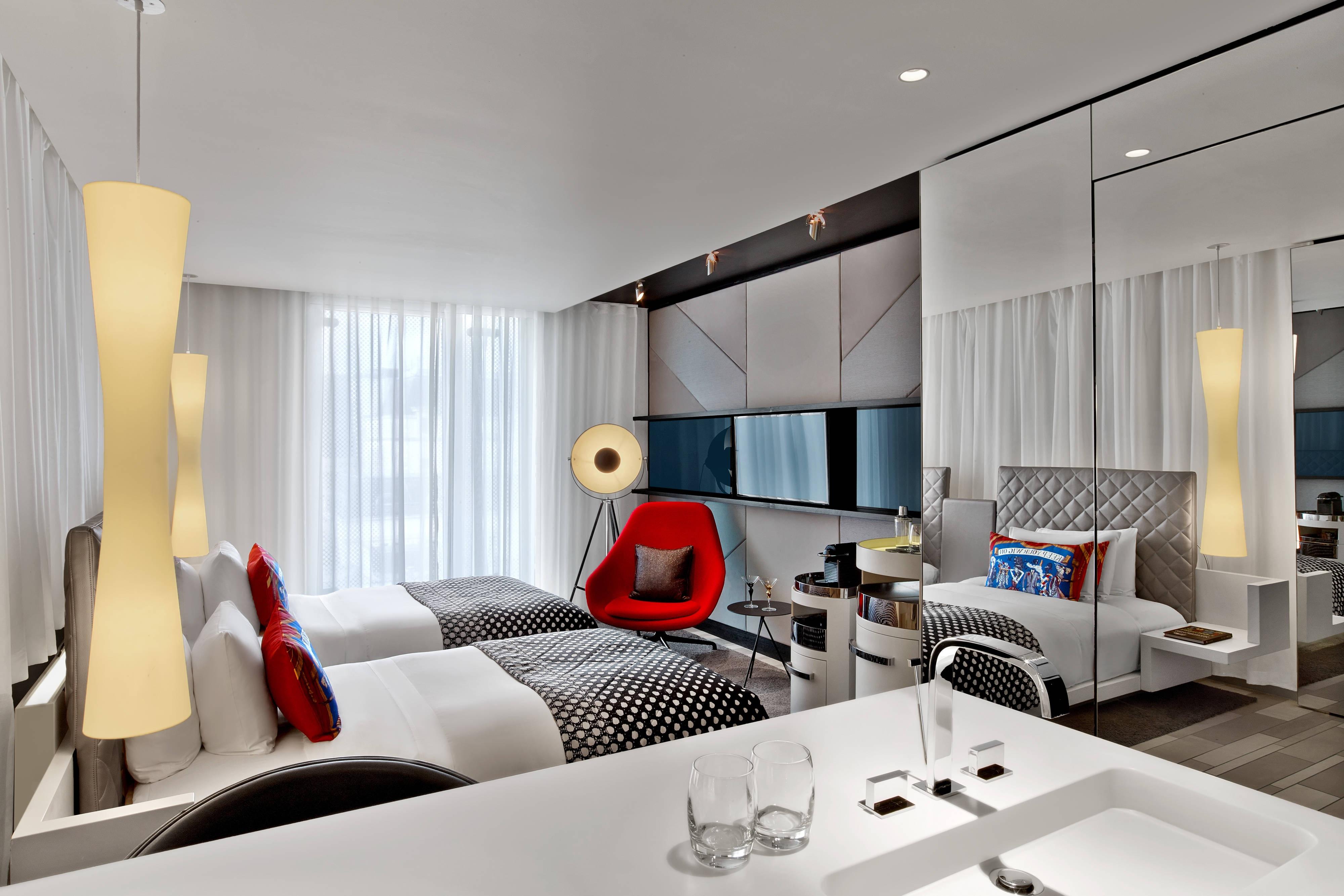 Chambre Fabulous avec lits simples: vue de la salle de bain
