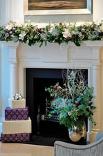 Lobby Fireplace – Holiday Decorations