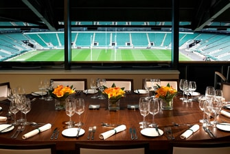 Refeições na Pitch View, Marriott Twickenham