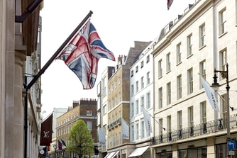 British Flag Bond Street London