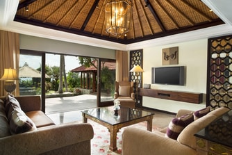 Beachfront Villa Living Room