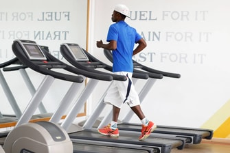 Man Working out in the Gym