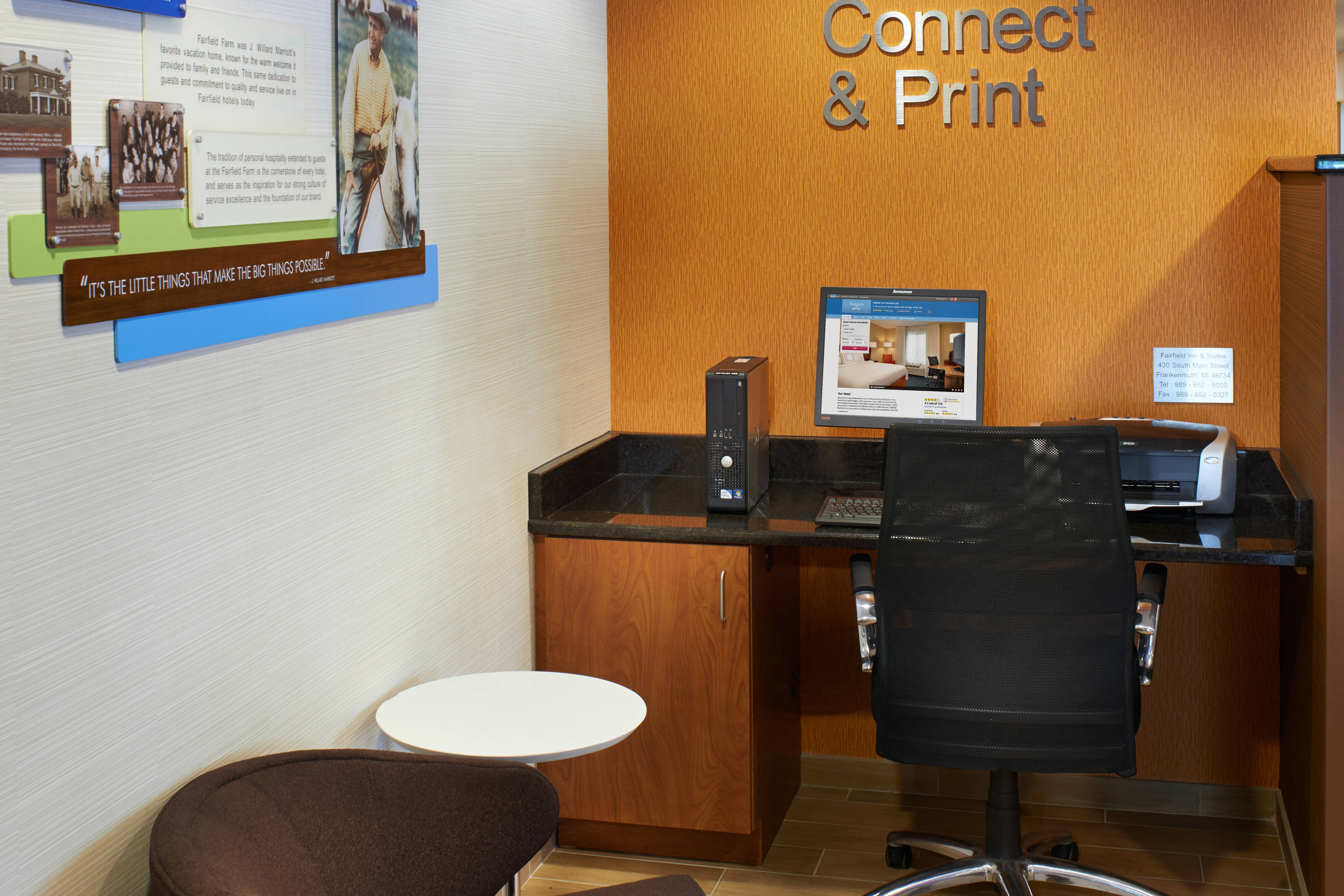 Downtown Frankenmuth hotel business center