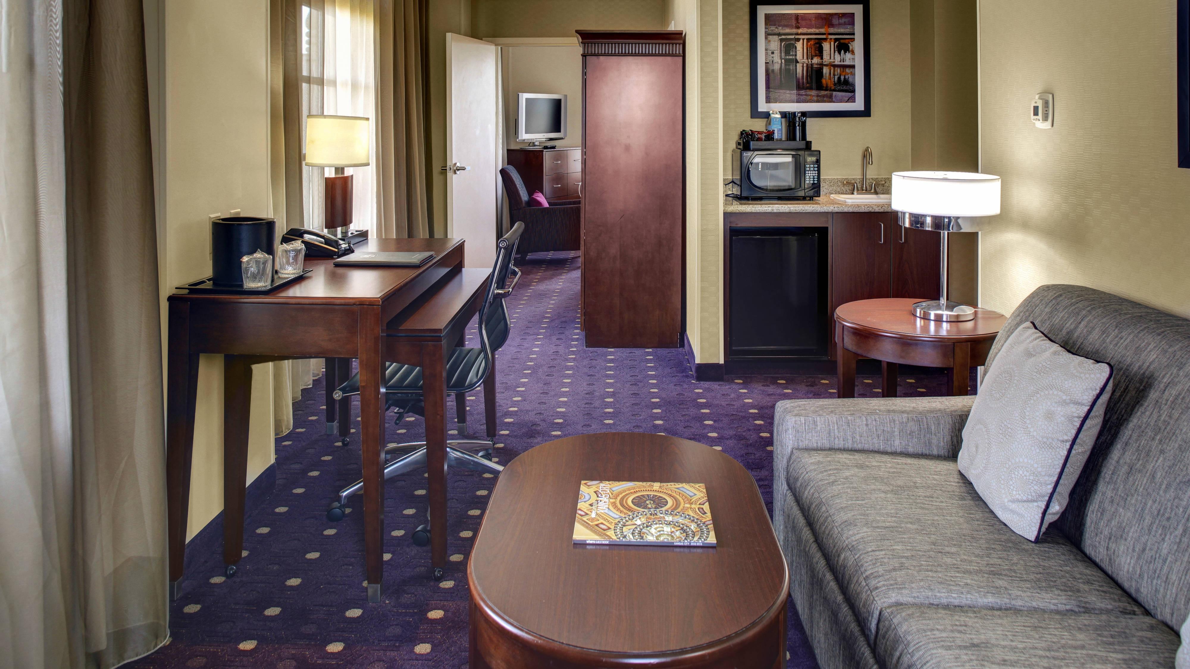 Wohnbereich der Kingsize Suite