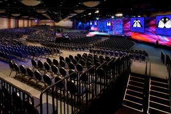 Pacific Hall - stadium set-up