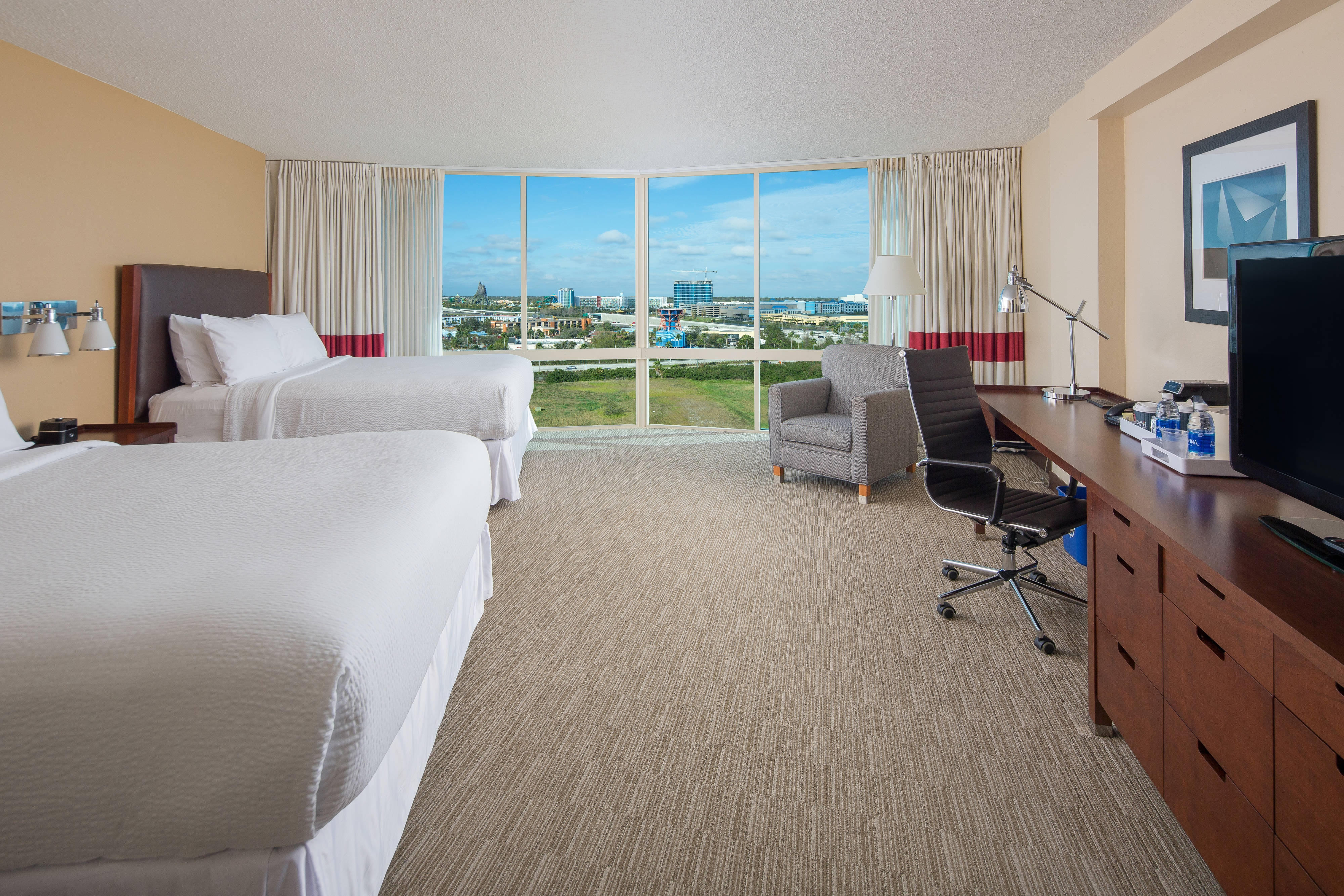Deluxe Gästezimmer mit zwei Queensize-Betten