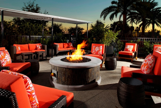 Patio Seating and Fire