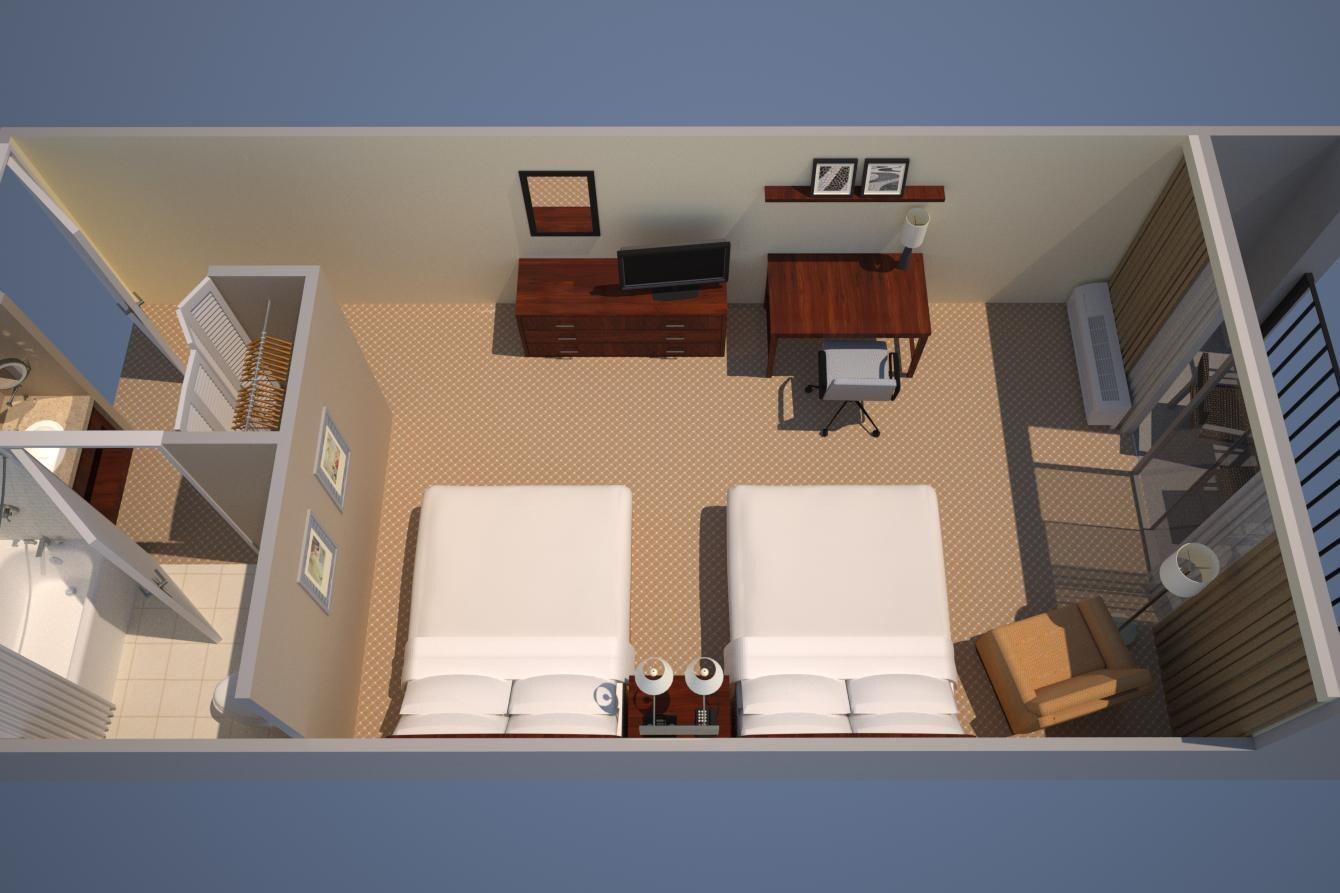 客室、2クイーン