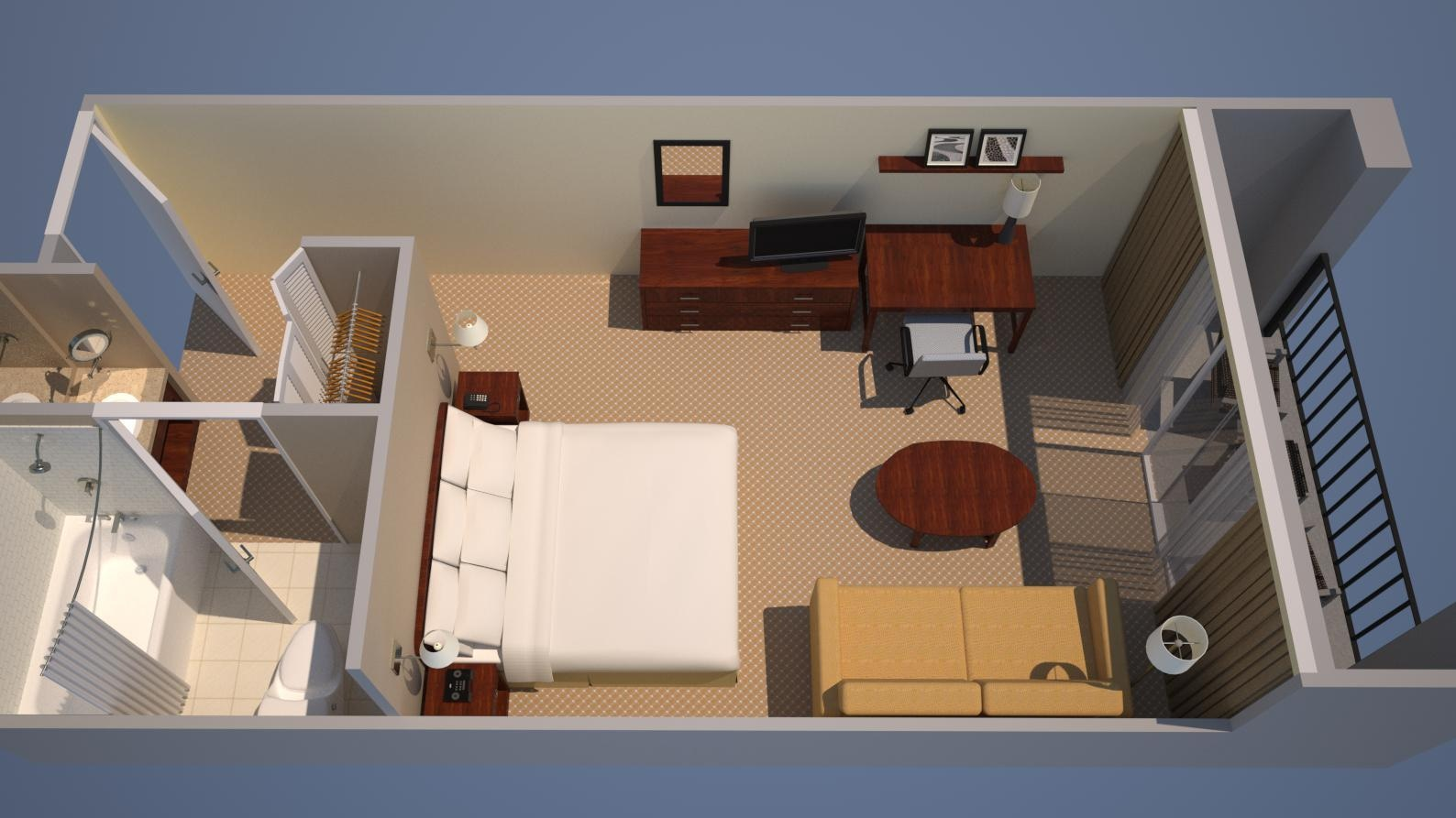 Guest Room; 1 King, Sofa Bed
