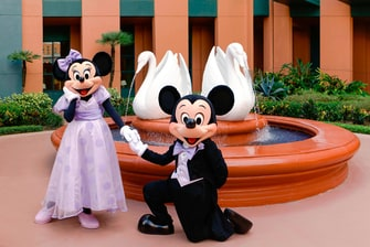 Mickey and Minnie Wedding - Courtyard