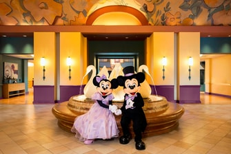 Mickey and Minnie Wedding - Swan Lobby