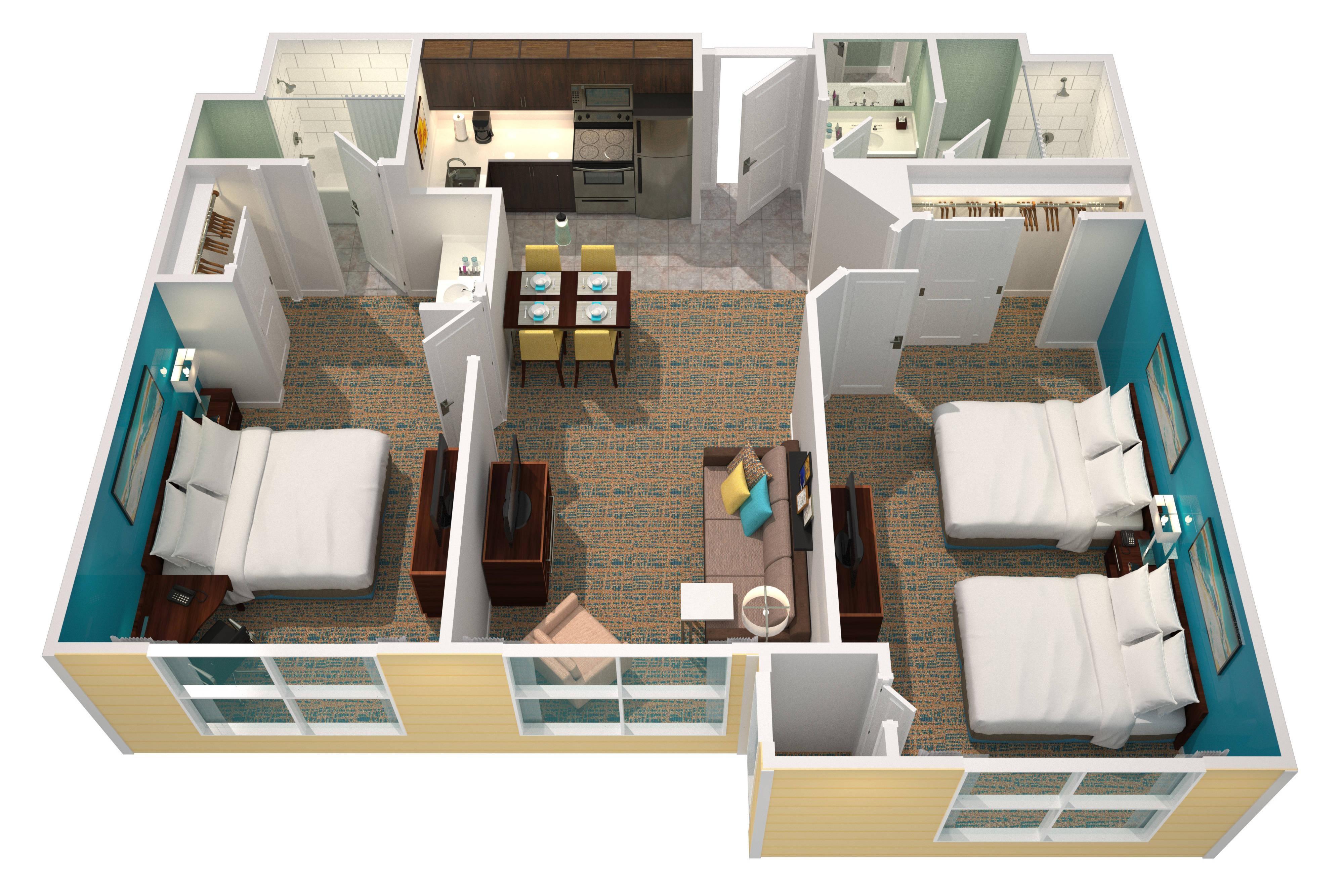 Suite con due camere da letto