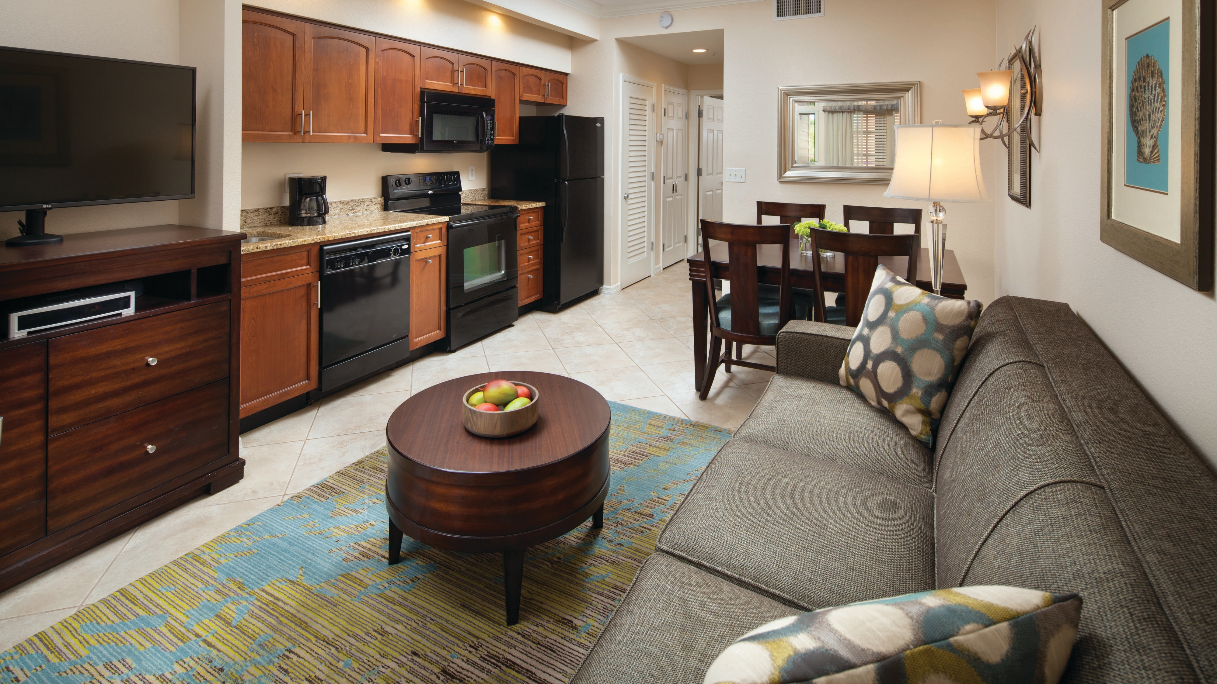 Dining Living Kitchenette Cascades