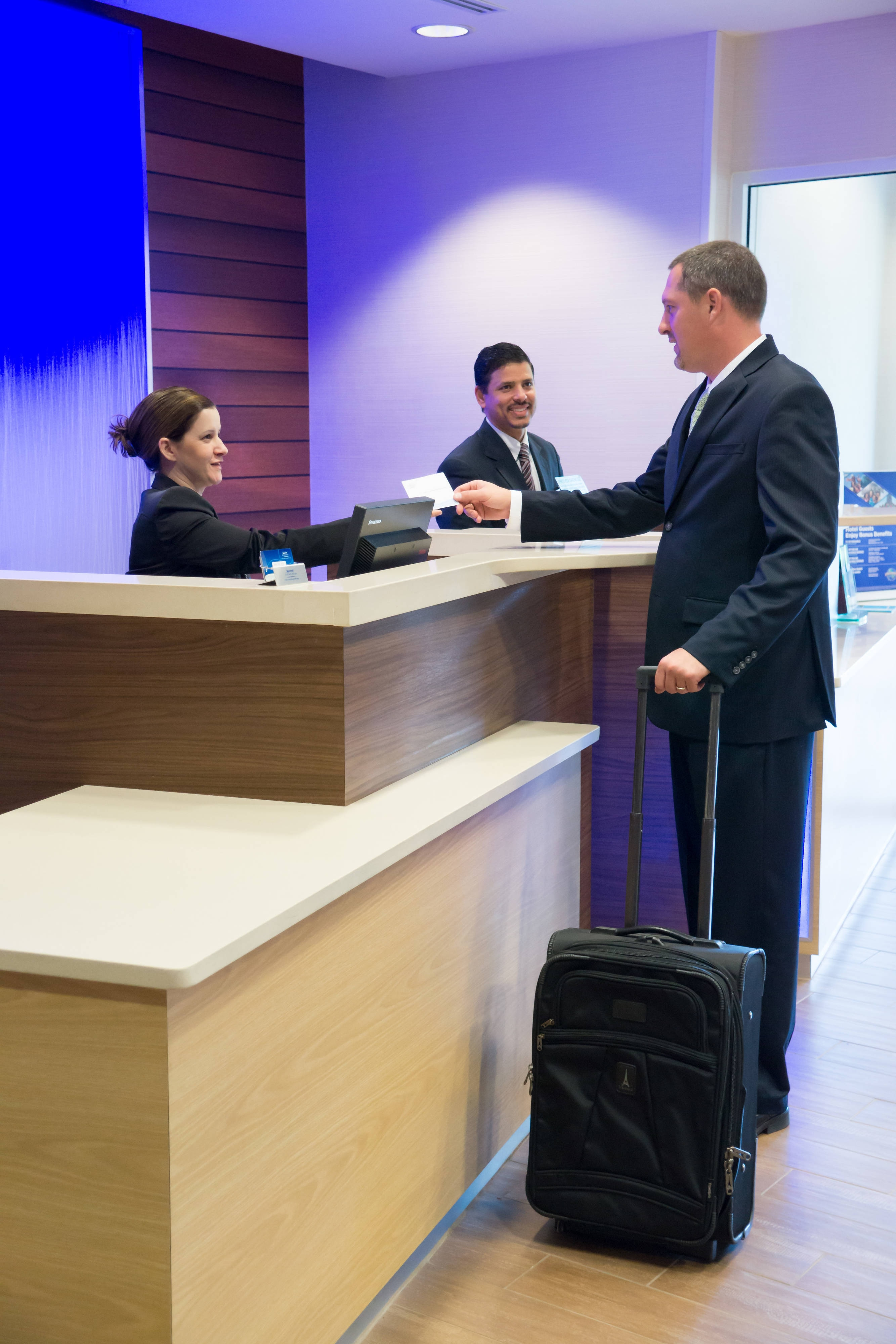 Newly designed front desk with easy check-in