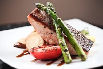 Salmon and Asparagus in Melbourne