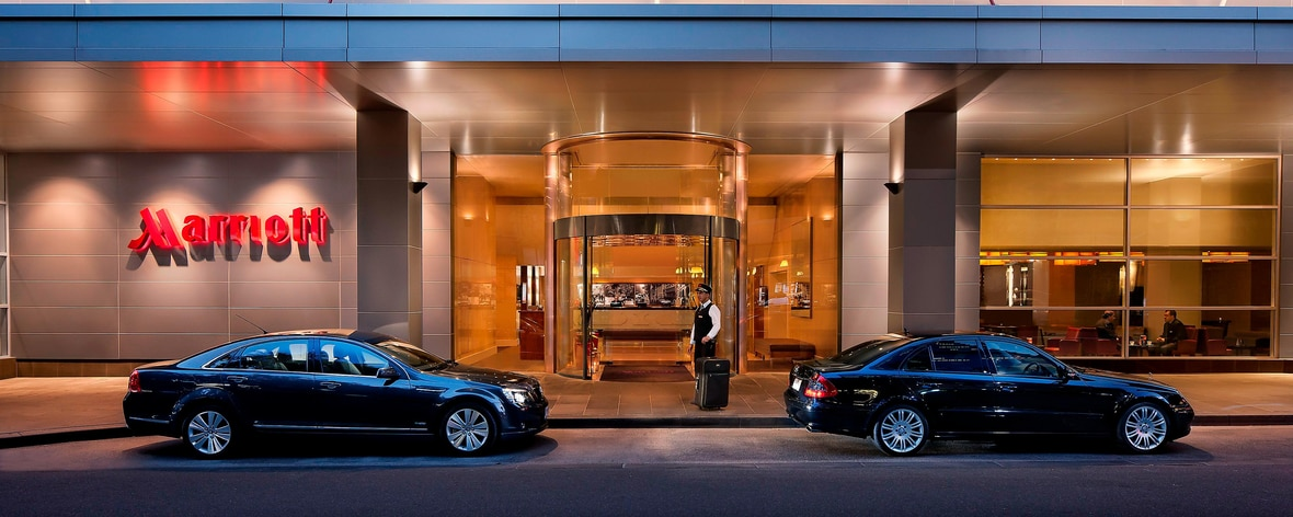 Entrance to Luxury Melbourne Hotel