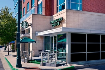 Starbucks next door