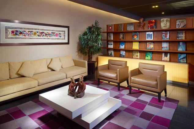 Mexico City Business Hotel Library