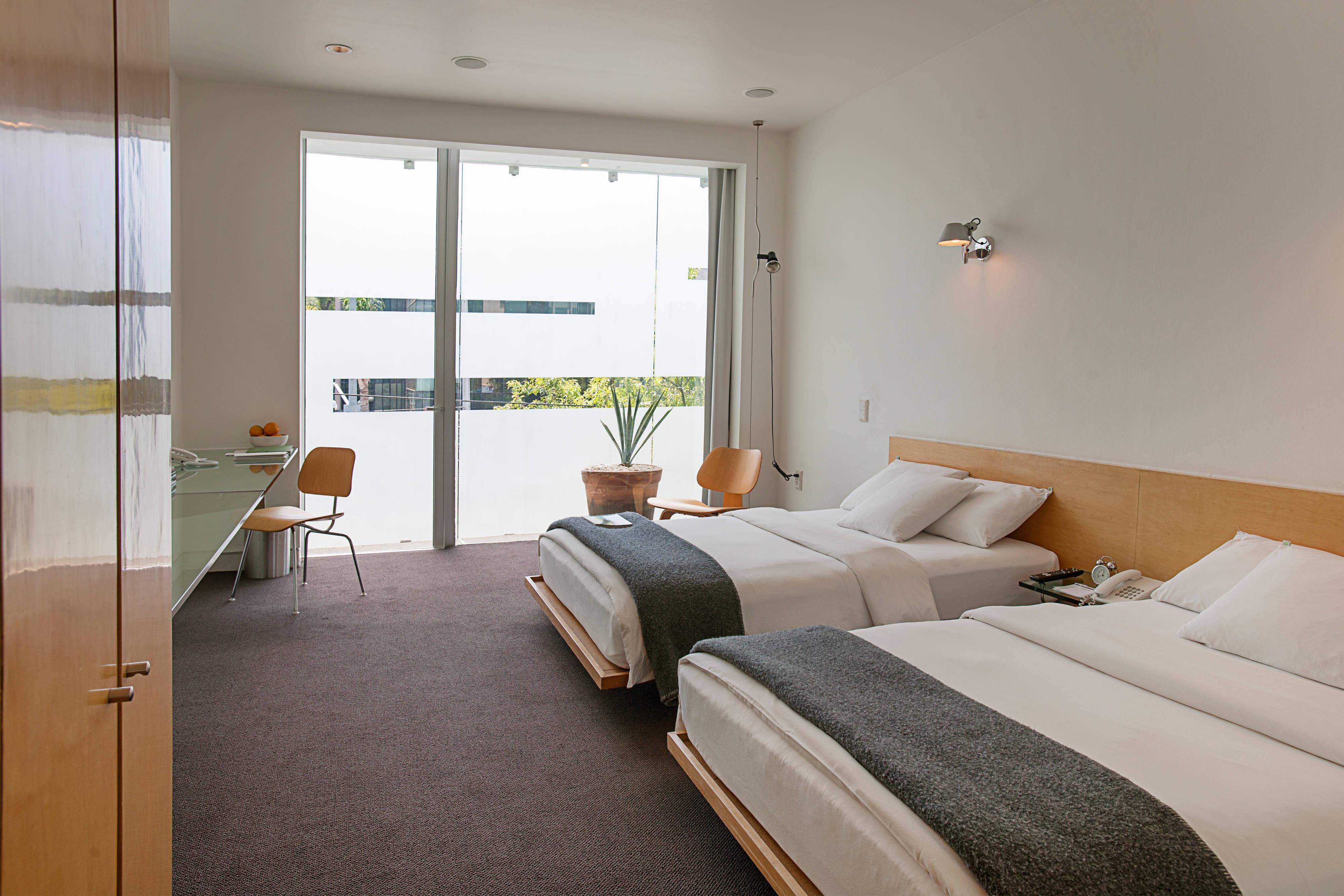 Chambre haut de gamme avec lits simples
