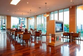 Lounge en hotel del centro de la ciudad de México