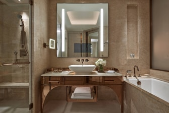 Luxury hotel bathroom in Macau