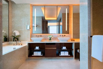 Luxury suite bathroom in Macau