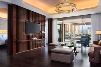 Macau pool suite living area