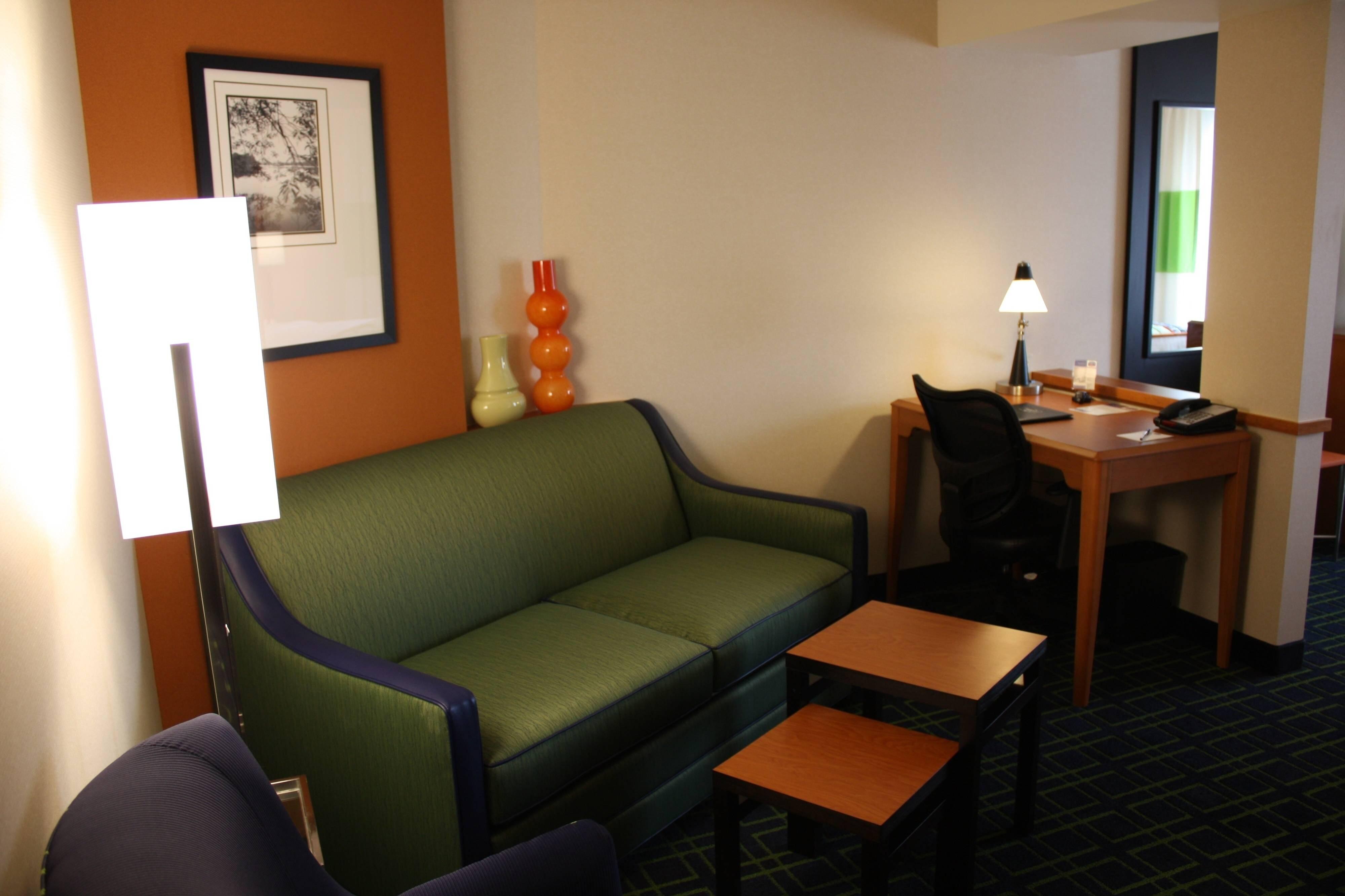 Sitzbereich der Kingsize Suite